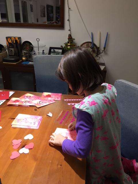 Liza making V cards.jpg