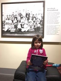 Liza reading at Steinbeck.jpg